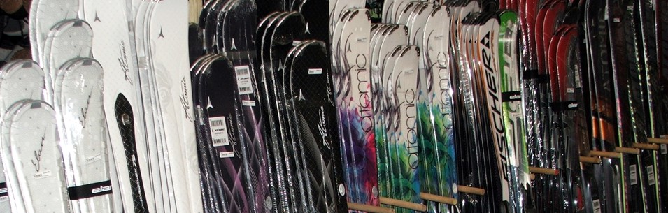 Skis on Rack